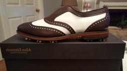 2012 Allen Edmonds Honors Classic Mens Golf Shoes NEW Bone/B
