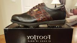 2014 Footjoy Dryjoys Mens Golf Shoes 53729 NEW Blk/Brn 11.5M