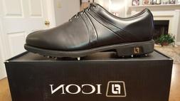 2014 Footjoy FJ ICON Mens Golf Shoes 52163 NEW Black/Blk Cro