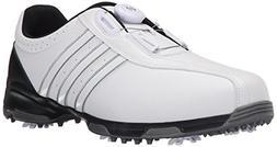 adidas Men's 360 Traxion BOA Golf Shoe, FOOTWEAR WHITE/FOOTW