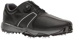 adidas Men's 360 Traxion BOA Golf Shoe, CORE BLACK, 8 W US