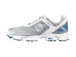 Footjoy 51022 M100 Hyperflex Mens Golf Shoes, White & Grey &