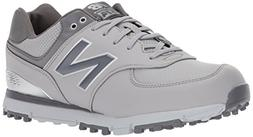New Balance Men's 574 SL Golf Shoe, Grey/Silver, 12 4E US