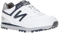 New Balance Men's 574 SL Golf Shoe, White/Navy, 10 4E US