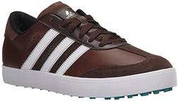 adidas Men's Adicross V Golf Shoe, Brown/White/EQT Green, 12