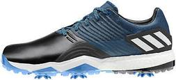 adipower 4orged golf shoes black blue men