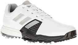 adidas Men's Adipower Boost 3 Golf Shoe, White/Silver Metall