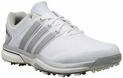 NEW Adidas AdiPower Boost White/Silver Golf Shoes Mens Size
