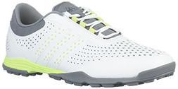 adidas Women's Adipure Sport Golf Shoe, White/Semi Frozen Ye