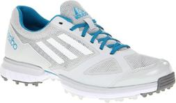 adidas Women's Adizero Sport Golf Shoe,Light Grey/Running Wh