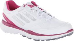 adidas Women's Adizero Sport II Golf Shoe,Running White/Meta