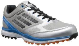 adidas Men's Adizero Sport II Golf Shoe,Metallic Silver/Carb