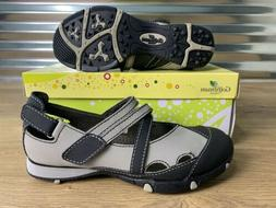 Golfstream Aerify Sandals Golf Shoes Leather Black Gray Wome