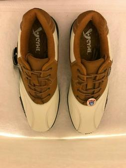 Agame A-Game Classic Executive Golf Shoes Brown White 9.5 NW