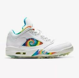 Air Jordan 5 Low G Tie Dye Golf Shoes M 9 W 10.5 CW4205-100