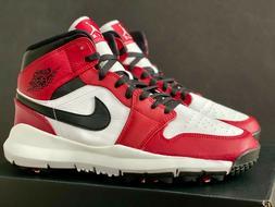 Nike Air Jordan 1 Chicago 11 Golf Shoes Cleat White Black 3