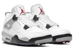 Nike Air Jordan 4 IV Retro G Golf Shoes White Cement CU9981-