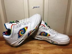 Nike Air Jordan 5 V Low Tie Dye Peace Love Golf Shoes Size M