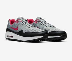 Nike Air Max 1 G Golf Shoes New 2020 - Grey/Black/Red CI7576