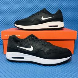 Nike Air Max 1 G  Athletic Spikeless Golf Shoes Black Sneake