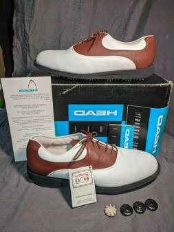 HEAD ALL TERRAIN PITTARDS LEATHER GOLF SHOES NEW 9M