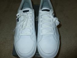 Ashworth Cardiff Men's White Leather Golf Shoes - Size 12 M