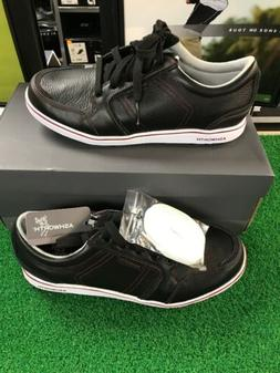 Ashworth Cardiff Spikeless size 9 Black Leather Waterproof G