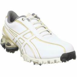 ASICS Golf Women's Lady GEL-Ace Shoe, White/Champagne Gold,