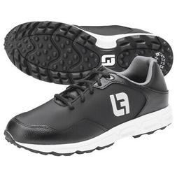 Footjoy Athletics Spikeless Golf Shoes Black/Black - Choose