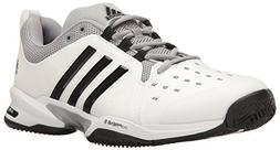 adidas  Barricade Classic Wide 4E Tennis Shoe,White/Core Bla