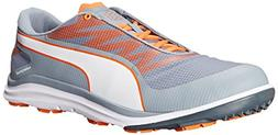 PUMA Men's Biodrive Golf Shoe, Tradewinds/White/Vibrant Oran