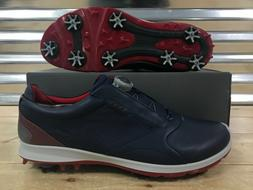 ECCO Biom G 2 BOA Golf Shoes Gore-Tex True Navy Blue Brick S