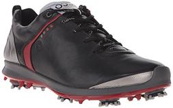 ECCO Men's Biom G 2 GTX Golf Shoe, Black/Brick, 45 EU/11-11.