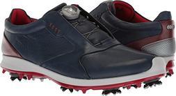 ECCO Men's Biom G2 BOA Gore-Tex Golf Shoe, True Navy/Brick,