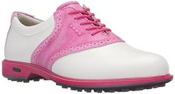 ECCO Women's Biom G2 Golf Shoe,White/Candy,39 EU/8-8.5 M US