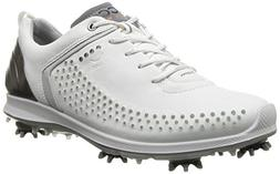ECCO Women's Biom G2 Golf Shoe,White/Buffed Silver,38 EU/7-7