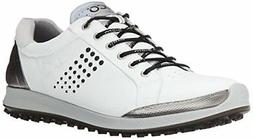 ECCO Men's Biom Hybrid 2 Golf Shoe-M, White/Black, 42 EU/8-8