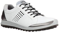 ECCO Men's Biom Hybrid 2 Golf Shoe, White/Black, 40 EU/6-6.5