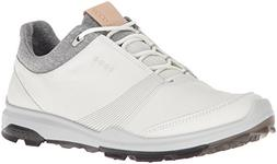 ECCO Women's Biom Hybrid 3 Gore-Tex Golf Shoe, White/Black,