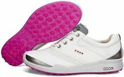 ECCO Women's Biom Hybrid Golf Shoe, White/Candy, 38 EU/7-7.5