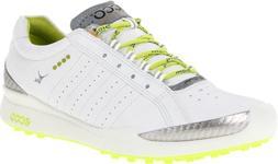 ECCO Women's Biom Hybrid Sport Golf Shoe,White/Lime Punch,40