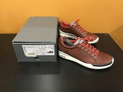 ECCO Men's Biom Hybrid Golf Shoe,Mahogany/Fire,45 EU/11-11.5