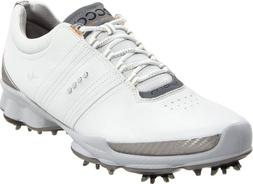 ECCO Men's BIOM Hydromax Golf Shoe,White/Concrete,45 EU/11-1