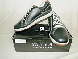 FootJoy Black Contour Casual Spikeless Golf Shoes 54244 Mens