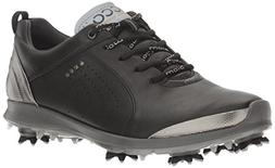 ECCO Women's Boim G 2 Free Golf Shoe, Black/Buffed Silver, 3