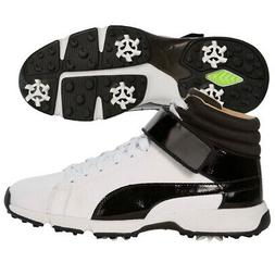 Boys' Puma Junior Titantour Ignite Hi-Top Golf Shoes White/B
