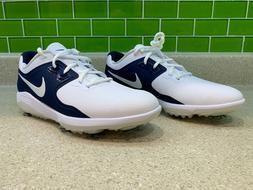 Brand New Nike Men's Vapor Pro Golf Shoes White Navy Blue AQ
