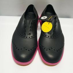 Biion Brights Golf Shoes Black Magenta Green Size 6 Women Un