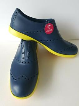 Biion Brights Golf Shoes Footwear Size 12 Navy Blue Yellow N