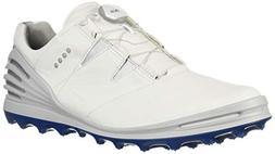 ECCO Men's Cage Pro Boa 2 Gore-TEX Golf Shoe, White, 44 M EU